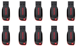 SanDisk 8GB Cruzer Blade USB 2.0 Flash Memory Drive SDCZ50-008G (10 Pack)