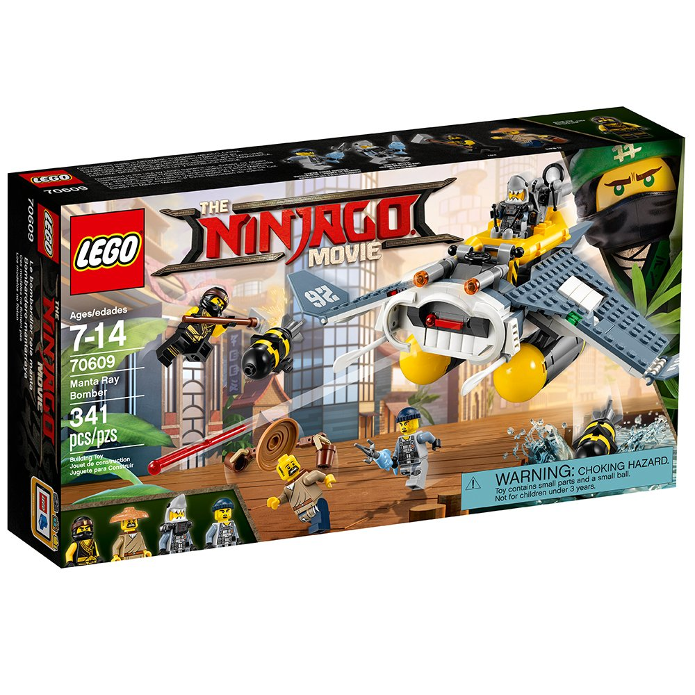 LEGO Ninjago Movie Manta Ray Bomber 70609 Building Kit (341 Piece)