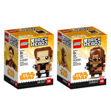 LEGO Brickheadz Han Solo & Chewbacca Bundle, Solo: A Star Wars Story (290 Pieces)