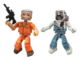 Diamond Select Toys Walking Dead Minimates Series 3 Hershel and Farmer Zombie Action Figure