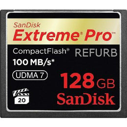 SanDisk Extreme PRO 128GB CF CompactFlash Card UDMA 7 Speed Up To 100MB/s SDCFXP-128G-X46 (Certified Refurbished)