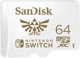 SanDisk 64GB MicroSDXC UHS-I Card for Nintendo Switch - SDSQXAT-064G-GNCZN