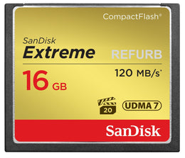 SanDisk Extreme 16GB CompactFlash Memory Card UDMA 7 120MB/s-SDCFXS-016G-X46 (Certified Refurbished)