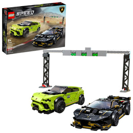 LEGO Speed Champions Lamborghini Urus ST-X and Lamborghini Huracan Super Trofeo EVO 76899 Building Kit (663 Pieces)