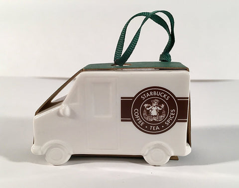Starbucks 2016 Delivery Truck Ceramic Christmas Ornament
