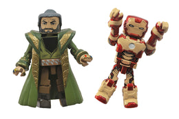 Diamond Select Marvel Minimates Iron Man Mark 42 and The Mandarin Action Figure