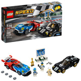 LEGO Speed Champions 6175279 2016 GT & 1966 Ford Gt40 75881 Building Kit (366 Piece)