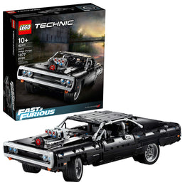 LEGO Technic Fast & Furious Doms Dodge Charger 42111 Race Car Building Set, New 2020 (1,077 Pieces)