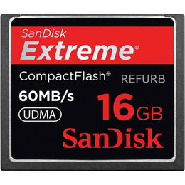 SanDisk Extreme 16GB Compact Flash CF Card 60MB/s SDCFX-016G-A61 (Certified Refurbished)
