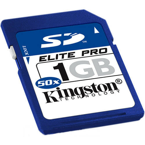 Kingston 1 GB Elite Pro Secure Digital Memory Card ( SD/1GB-S )