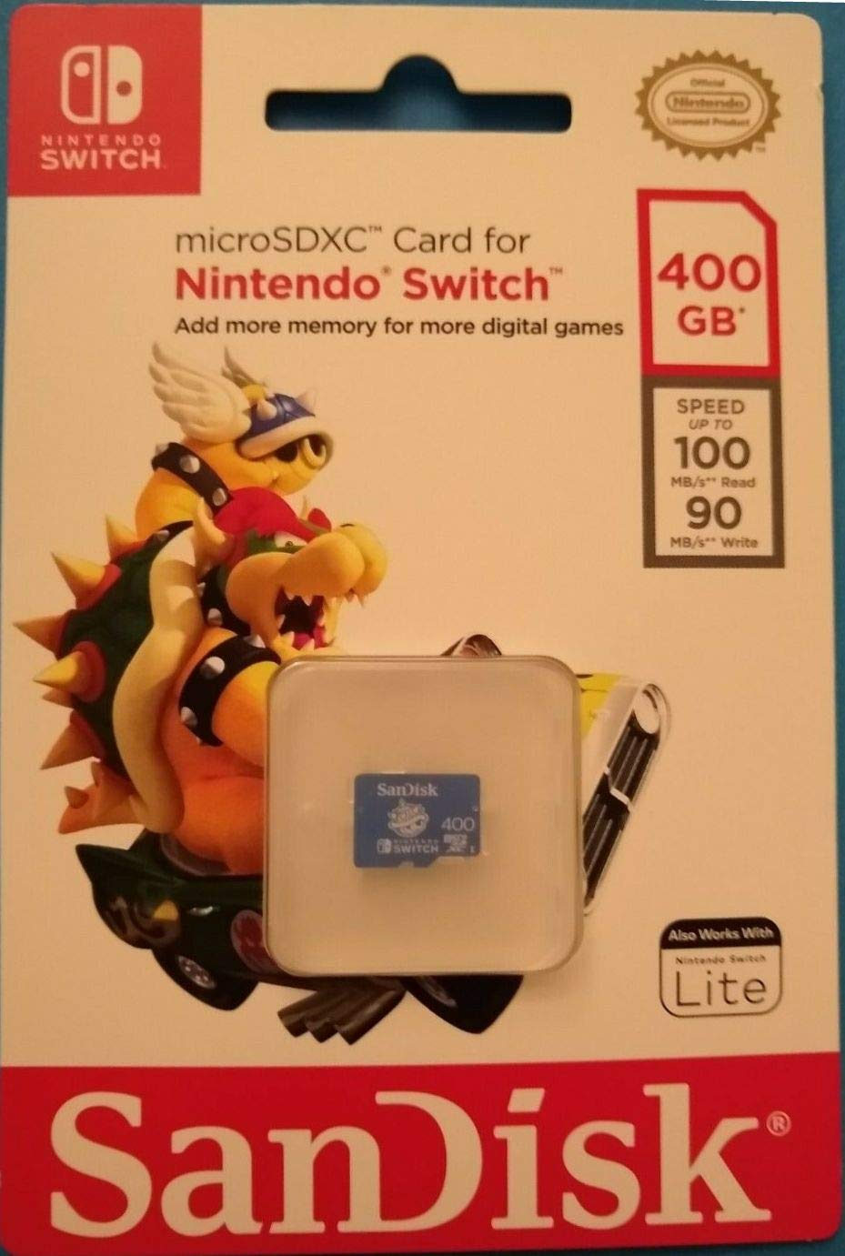 SanDisk - 400GB microSDXC UHS-I for Nintendo Switch