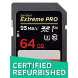 SanDisk Extreme Pro 64GB SDXC UHS-I Memory Card (SDSDXXG-064G-GN4IN) (Certified Refurbished)
