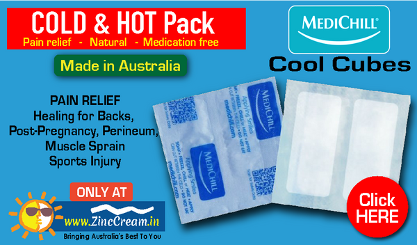 MediChill Pain Relief COLD Cubes Hot Pack Made in AUSTRALIA
