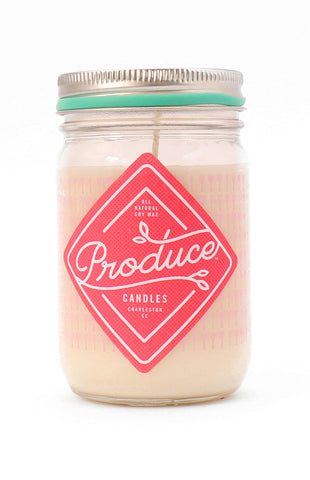 Rhubarb Produce Candle