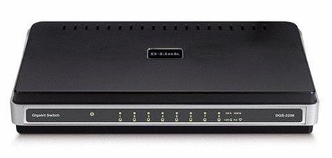 D-Link DGS-2208 8-Port 10/100/1000 Desktop Switch