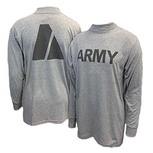 New US ARMY Grey Moisture Wicking PT PTU Long Sleeve T-Shirt