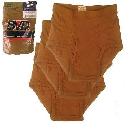 BVD Briefs Underwear Mens Size 32 Brown Military Issue