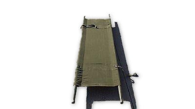 MILITARY STRETCHER LITTER ARMY  ARMY 7 FT HUNTING CAMPING COT Canvas Gurney