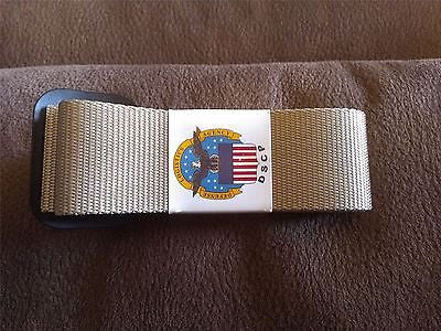 US Military Riggers Belt Size 44 Color Sand
