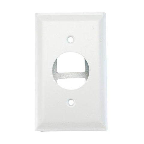 Wiremold Legrand G3027AE Single Receptacle Plate 300 Series Raceway, Gray