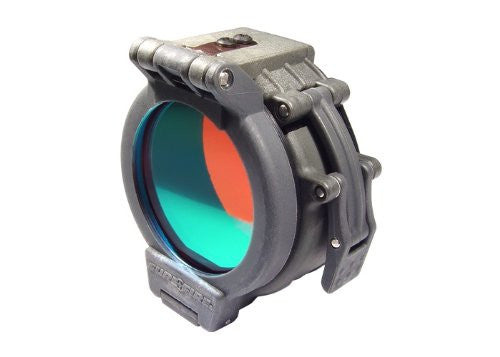 "SureFire Flip Up Red Filter for Flashlights with 1.25"" Diameter Bezels FM35"