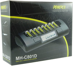 Powerex Maha MH-C801D Eight Cell 1-Hr PRO AA/AAA Charger