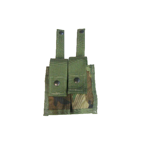 NEW MOLLE Woodland Camo 40MM Pyrotechnic Pocket Double Pouch