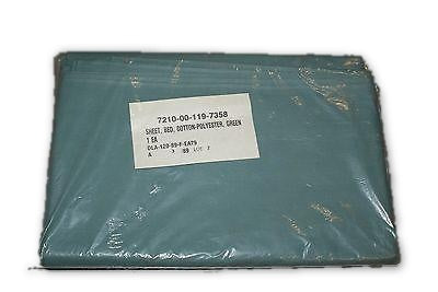 Hospital Bed Flat Sheets 66 X 104 Bedding Green cotton polyester Military