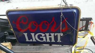 Huge Coor's Light Beer Sign