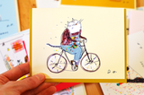 Studio Cat Card 4 - The Bike Rider - Studio Break