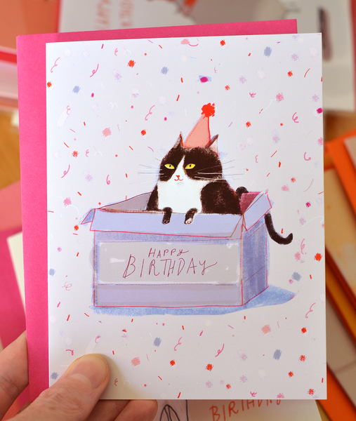 Birthday Box- Birthday Cat Card