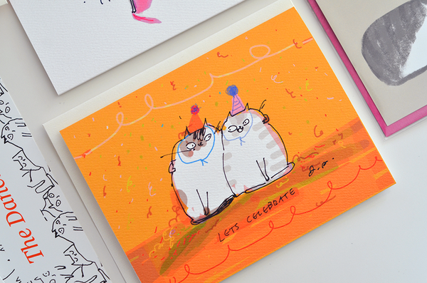Lets Celebrate - Birthday Cat Card
