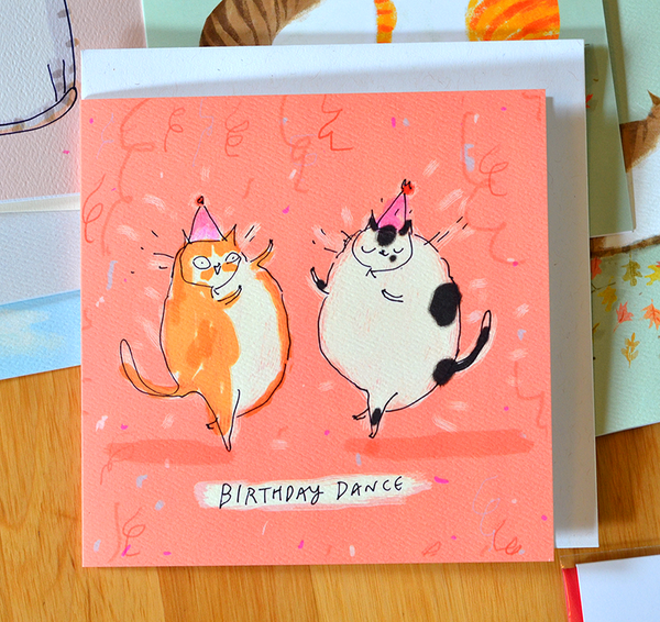 Birthday Dance - Square Card
