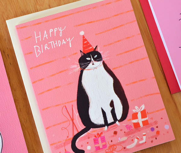 Birthday Tux Cat Card