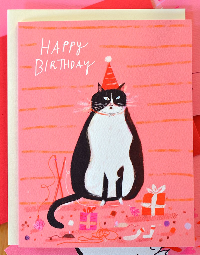 Birthday Gifts Cat Card