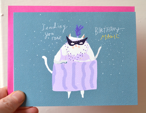 Birthday Magic - Cat Card