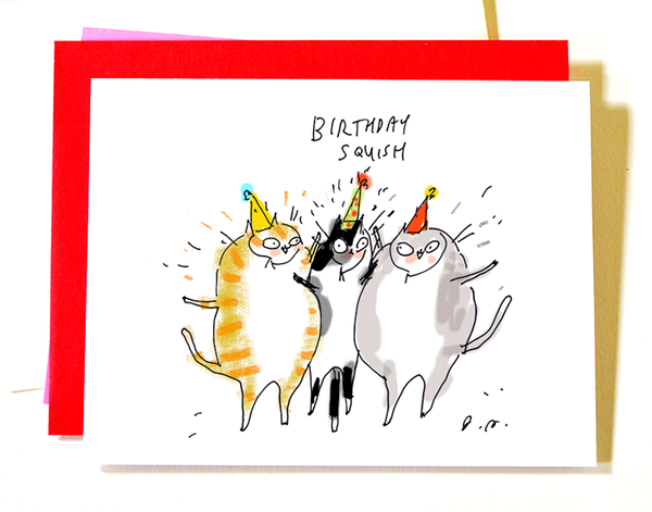 Birthday Squish- Cat Card