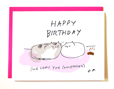Cat Birthday Turd Card