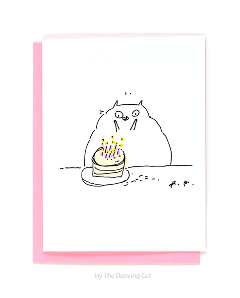 Wee Hands - Cat Birthday Card
