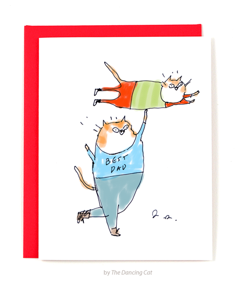 Best Dad Ever- Cat Card