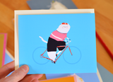 The Bike Rider Cat Card