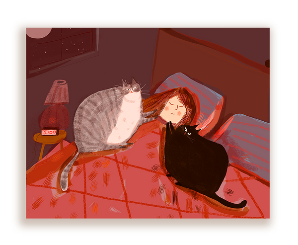 The Bonding Hour- Cat Mom Card
