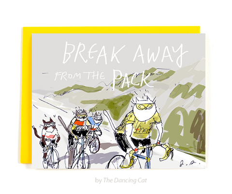 Breakaway from the Pack - Cycling Card