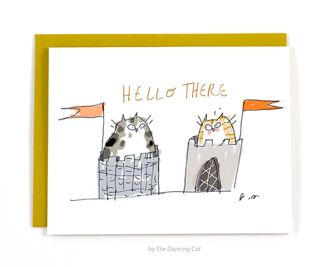 Castle Cats Card - Hello There