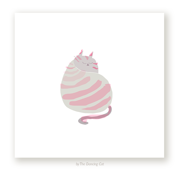 Cat Back Stripes Print