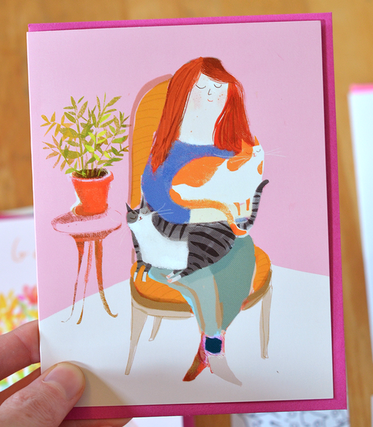 Cozy Cat Lady Card