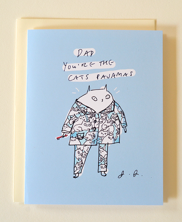 dad you re the cat s pajamas card the dancing cat