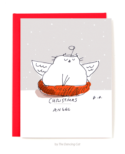 Christmas Angel- Cat Christmas Card