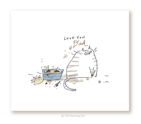Love You Dad - Litter Box Print