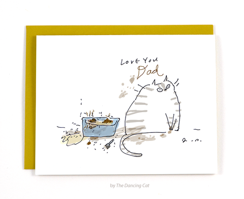 Love You Dad - Litter Box Cat